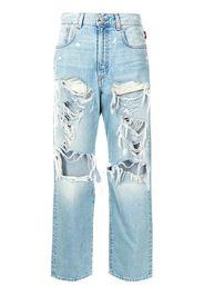 Denimist distressed straight-leg jeans - Blu