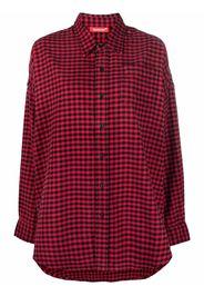 Denimist gingham-check oversized shirt - Rosso