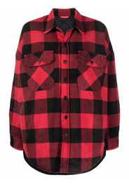 Denimist bold-check chest-pocket shirt - Rosso