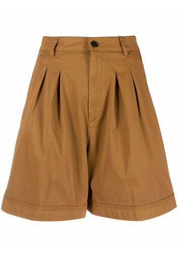 Department 5 Shorts sartoriali con pieghe - Marrone