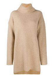 roll-neck fine-knit jumper