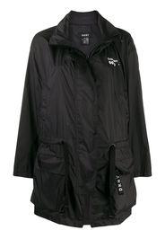 drawstring waist raincoat