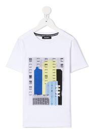 Dkny Kids graphic print t-shirt - Bianco
