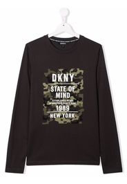 Dkny Kids TEEN logo-print T-shirt - Grigio