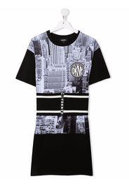 Dkny Kids TEEN photographic-print T-shirt dress - Nero