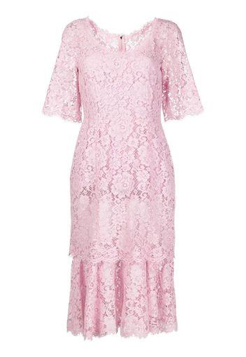 lace-overlay Short-sleeve dress