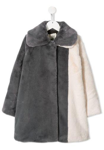 Cappotto midi bicolore