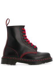 contrast-stitch work boots