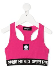 logo-patch crop top