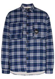 teddy check padded shirt