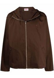 Eden Power Corp logo-embroidered organic cotton jacket - Marrone