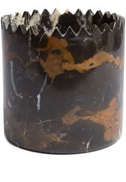 Triangoli Vase, Black And Gold