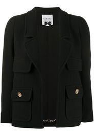 cropped wool blend jacket
