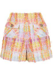 Edward Achour Paris Shorts in tweed a vita alta - Multicolore