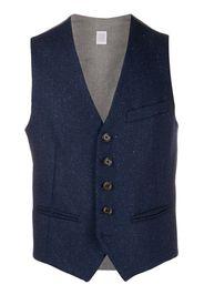 fleck knit waistcoat