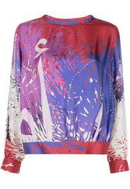 Elle B. Zhou paint splatter-print sweatshirt - Viola