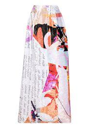 Elle B. Zhou graphic-print maxi skirt - Multicolore