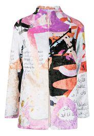 Elle B. Zhou graphic-print single-breasted blazer - Multicolore