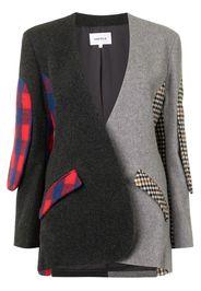 patchwork oversized blazer