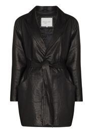 Envelope1976 Kelly belted leather jacket - Nero
