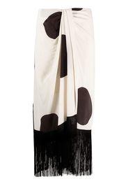 Erika Cavallini polka dot print wrap skirt - Toni neutri