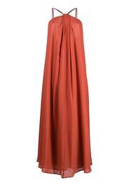 Erika Cavallini rhinestone strap silk maxi dress - Rosso