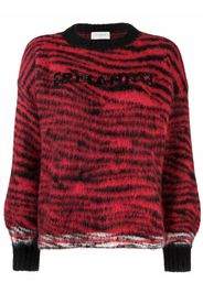 Ermanno Ermanno logo striped jumper - Rosso