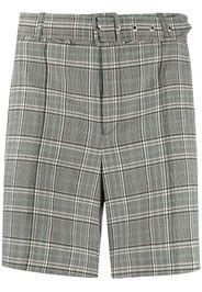 tartan belted shorts