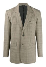 houndstooth-check blazer