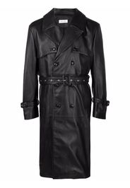 Ernest W. Baker leather trench coat - Nero