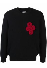 Ernest W. Baker floral embroidery jumper - Nero