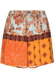 paisley-print patchwork shorts shorts