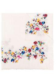Faliero Sarti floral embroidered scarf - Toni neutri