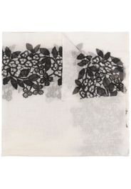 Faliero Sarti floral print scarf - Toni neutri