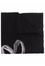 Faliero Sarti heart-print knitted scarf - Nero
