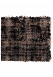 Faliero Sarti checked long knit scarf - Nero