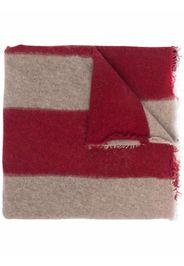 Faliero Sarti long striped cashmere scarf - Rosso