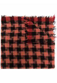 Faliero Sarti checked frayed-edge scarf - Rosso