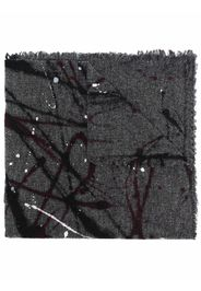 Faliero Sarti paint-splatter virgin wool-blend scarf - Grigio