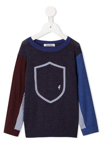 Maglione con design color-block
