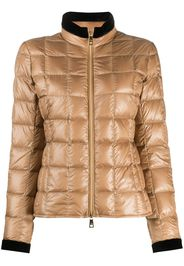 contrast-trimmed puffer jacket