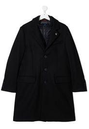 layered wool coat