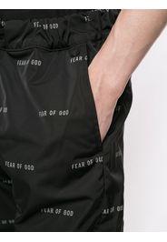 logo print trousers