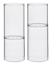 Fferrone Design Set di 2 bicchieri da vino Revolution - Bianco