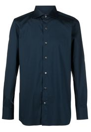 Finamore 1925 Napoli slim fit long-sleeved shirt - Blu