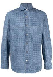 Finamore 1925 Napoli Camicia con stampa - Blu