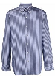 Finamore 1925 Napoli striped button-down cotton shirt - Blu