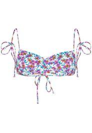 Foxy floral print tie strap bikini top