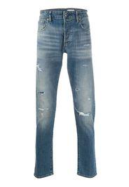 low rise slim-fit jeans