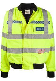 logo-print Police bomber jacket